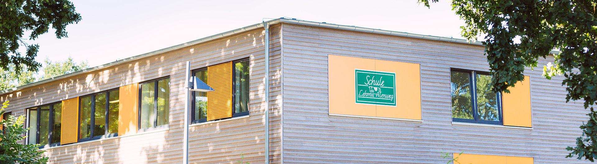 Ansicht des neuen Schulgebäudes